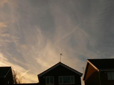 chemtrail aluminized sky.