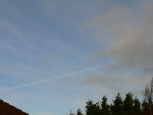 chemtrail NE UK Wed 9th Jan 2019 10:27 hrs GMT