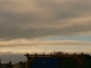 chemtrail NE UK Wed 9th Jan 2019 12:52 hrs GMT view to distant west chemtrails ie toward Cumbria, Brampton etc.