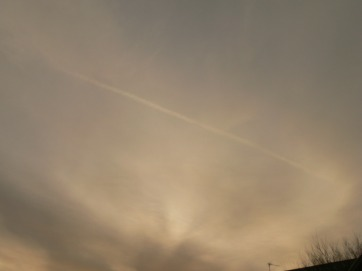 chemtrail 21st Jan 2019, 0935 GMT, obscured but there it is !
