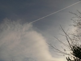 chemtrail UK 25th Jan 2019 a very aluminized sky.