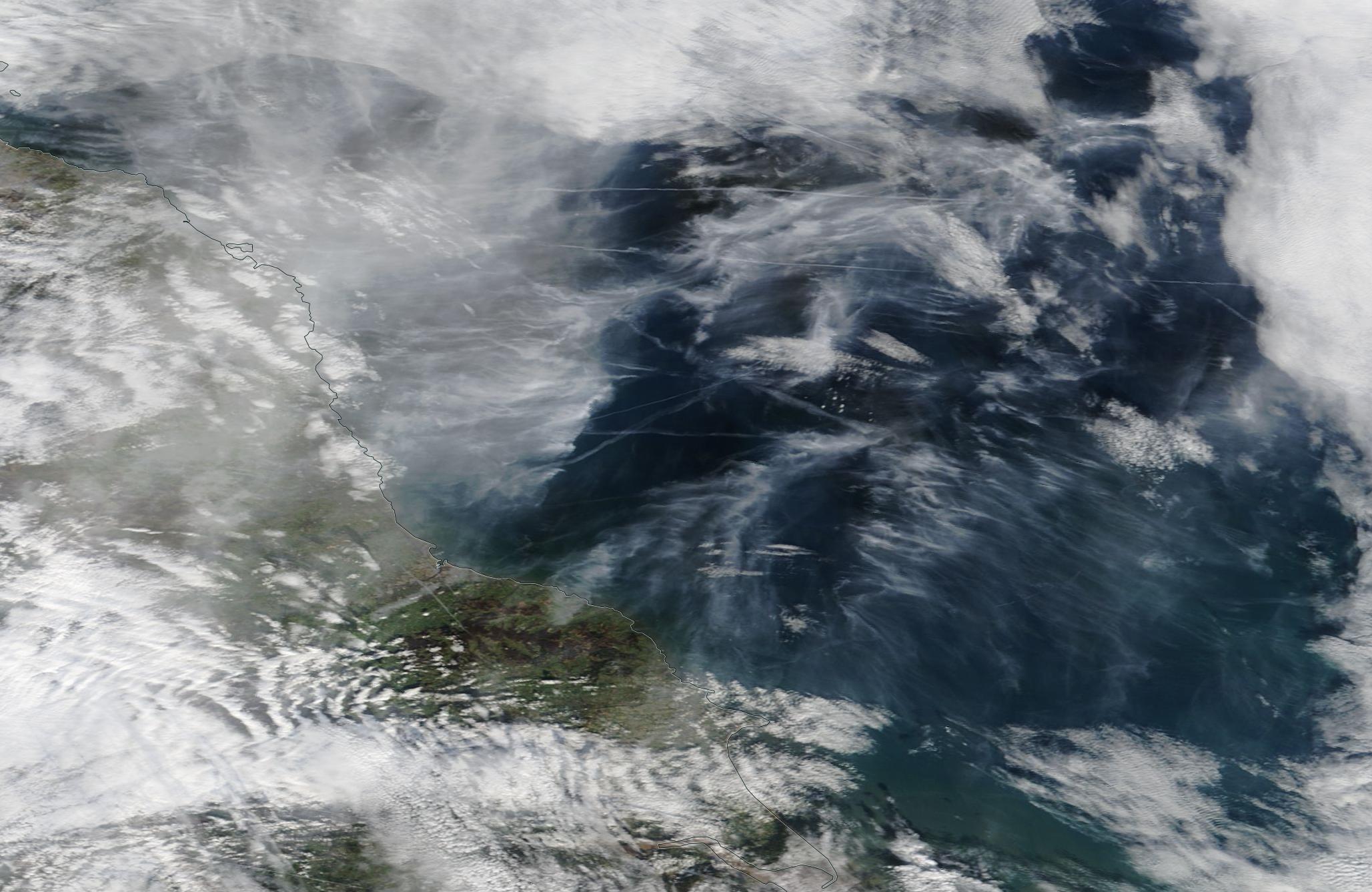 chemtrail North Sea 21 Feb 2019