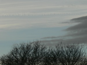 chemtrail lunchtime tuesday 12th Feb 2019 ... a gap in near constant cloudcover.