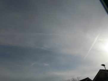chemtrail north east UK Sunday 17th Feb 2019 10:42 GMT
