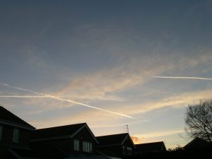 chemtrail north east UK Sunday 17th Feb 2019 17:15 GMT