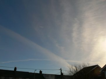 Chemtrail NE England 19th Feb 2019 ... 10:35 GMT