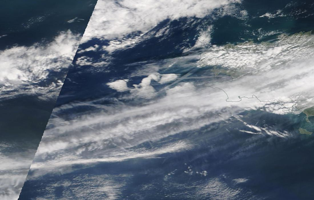 chemtrails Brest Brittany Sunday 24th March 2019 ... https://go.nasa.gov/2Wl5xTh