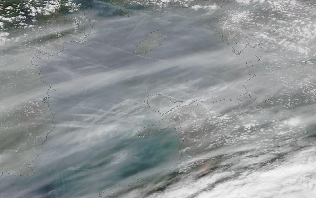 chemtrails Irish Sea Sat 23rd March 2019 ... https://go.nasa.gov/2YgTdW6