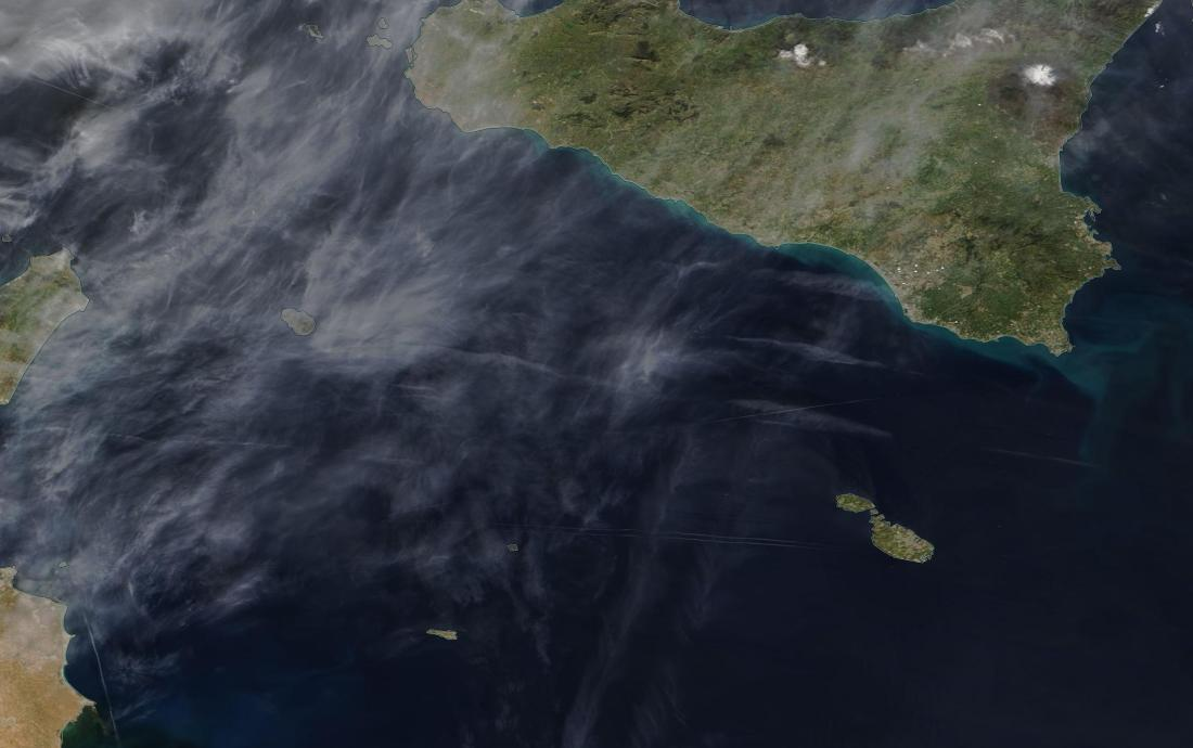 chemtrails Sicily and Tunisia in the Med ... 7th March 2019 ... https://go.nasa.gov/2IWbYu9