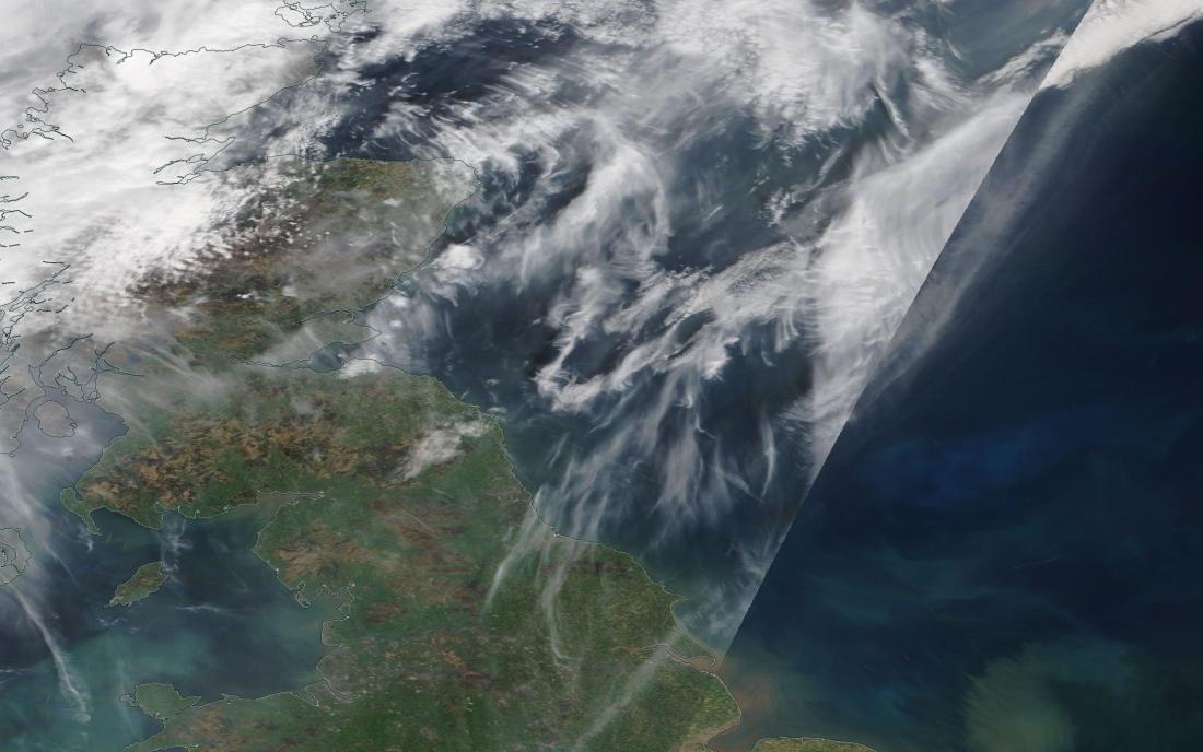 all of this is chemtrail geoengineering Sat Easter 20th April 2019 NE England. https://go.nasa.gov/2Uwvs9s