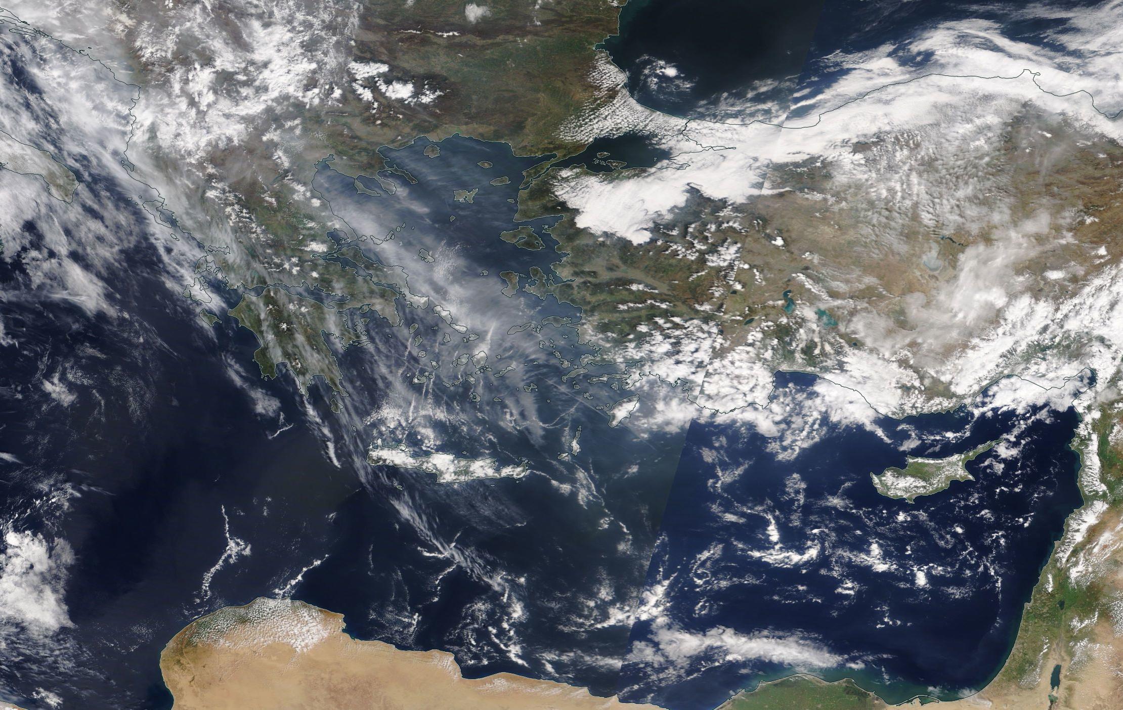 chemtrail geoengineering Greek Islands 3rd April 2019 ... https://go.nasa.gov/2G0aUlJ