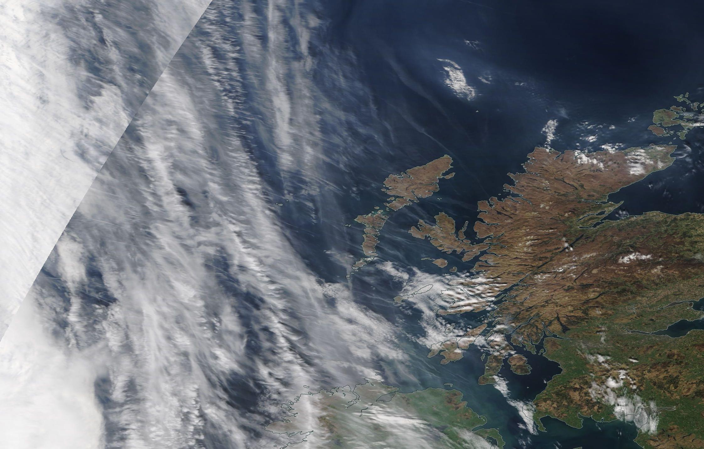 chemtrail geoengineering Outer Hebrides 19th April 2019 captured 1700 BST ... https://go.nasa.gov/2UHmFX0