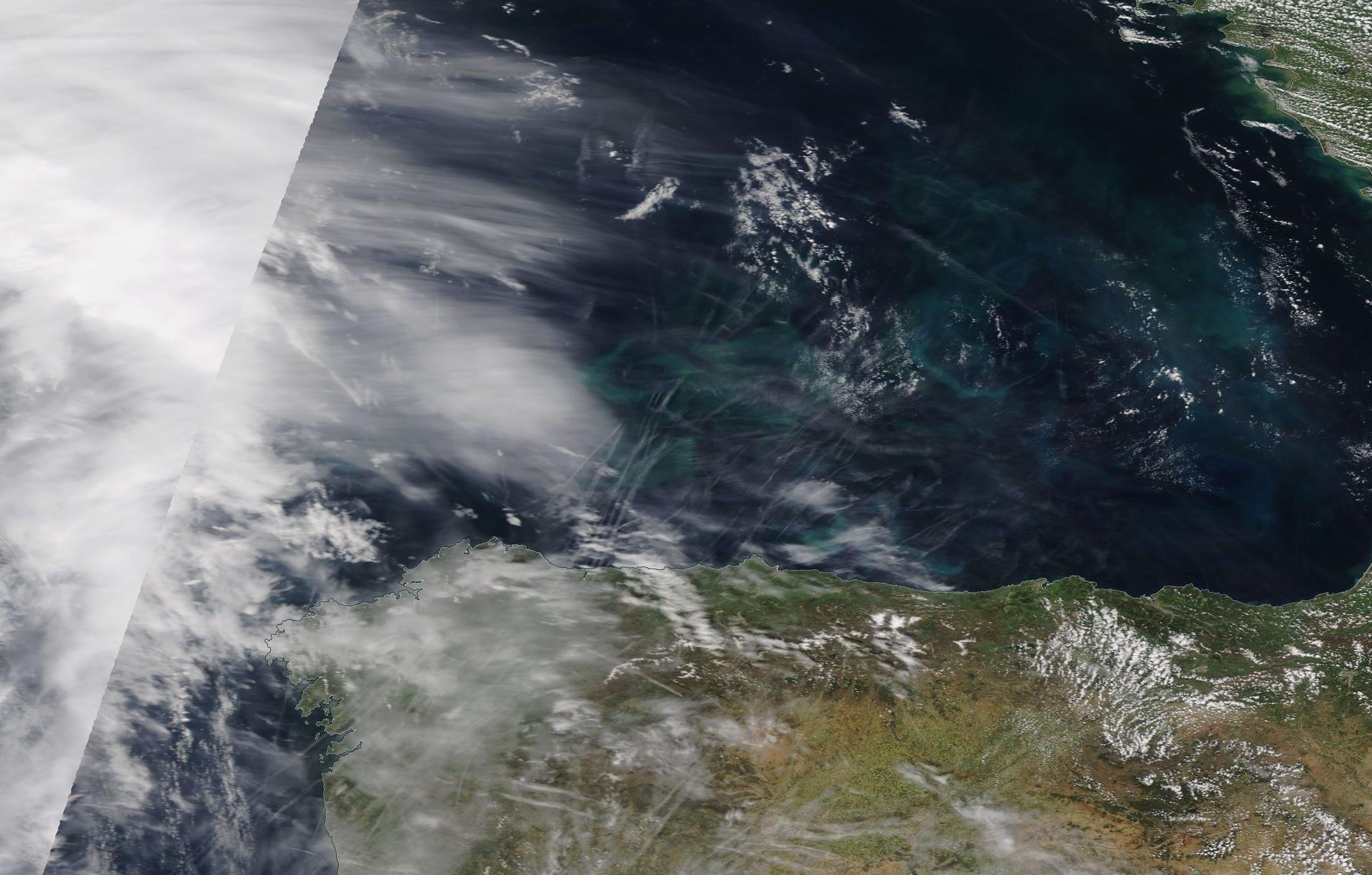 chemtrails geoengineering Costa Verde northern Spain ... https://go.nasa.gov/2GkKc61