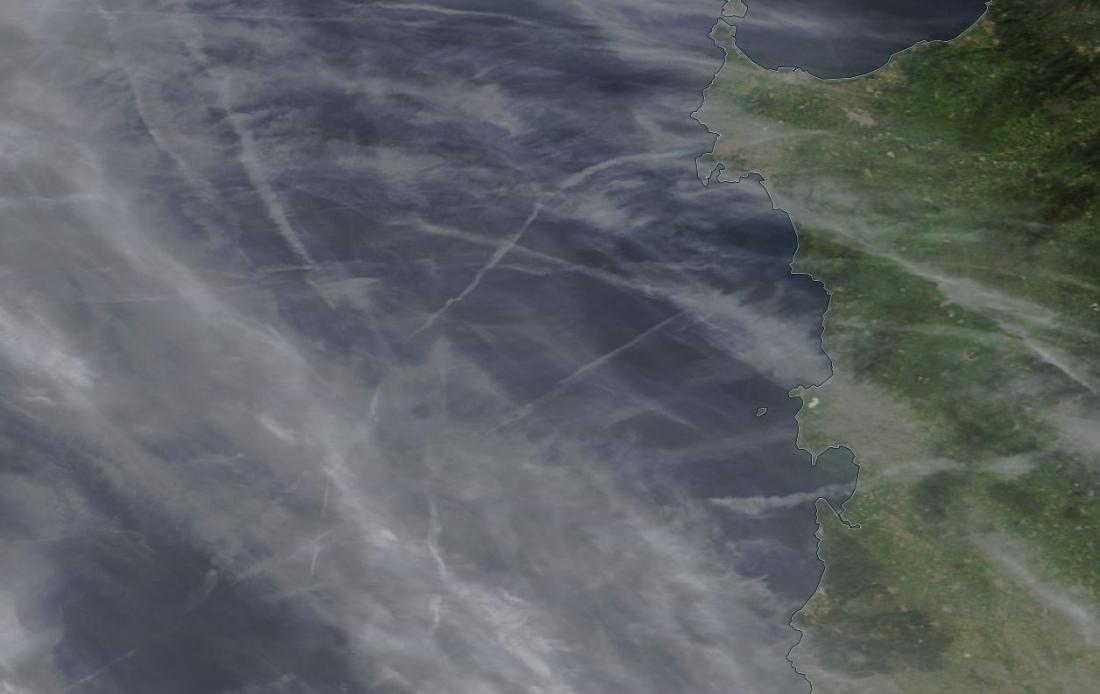 chemtrails geoengineering Sardinia (2) 18th April 2019 ... https://go.nasa.gov/2UIV3kx