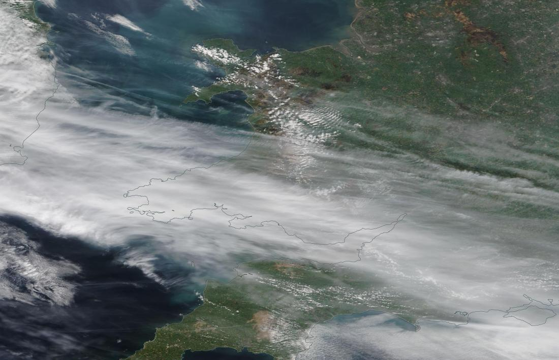 chemtrails geoengineering Wales, Irish Sea 17th April 2019 ...https://go.nasa.gov/2Ukrvod