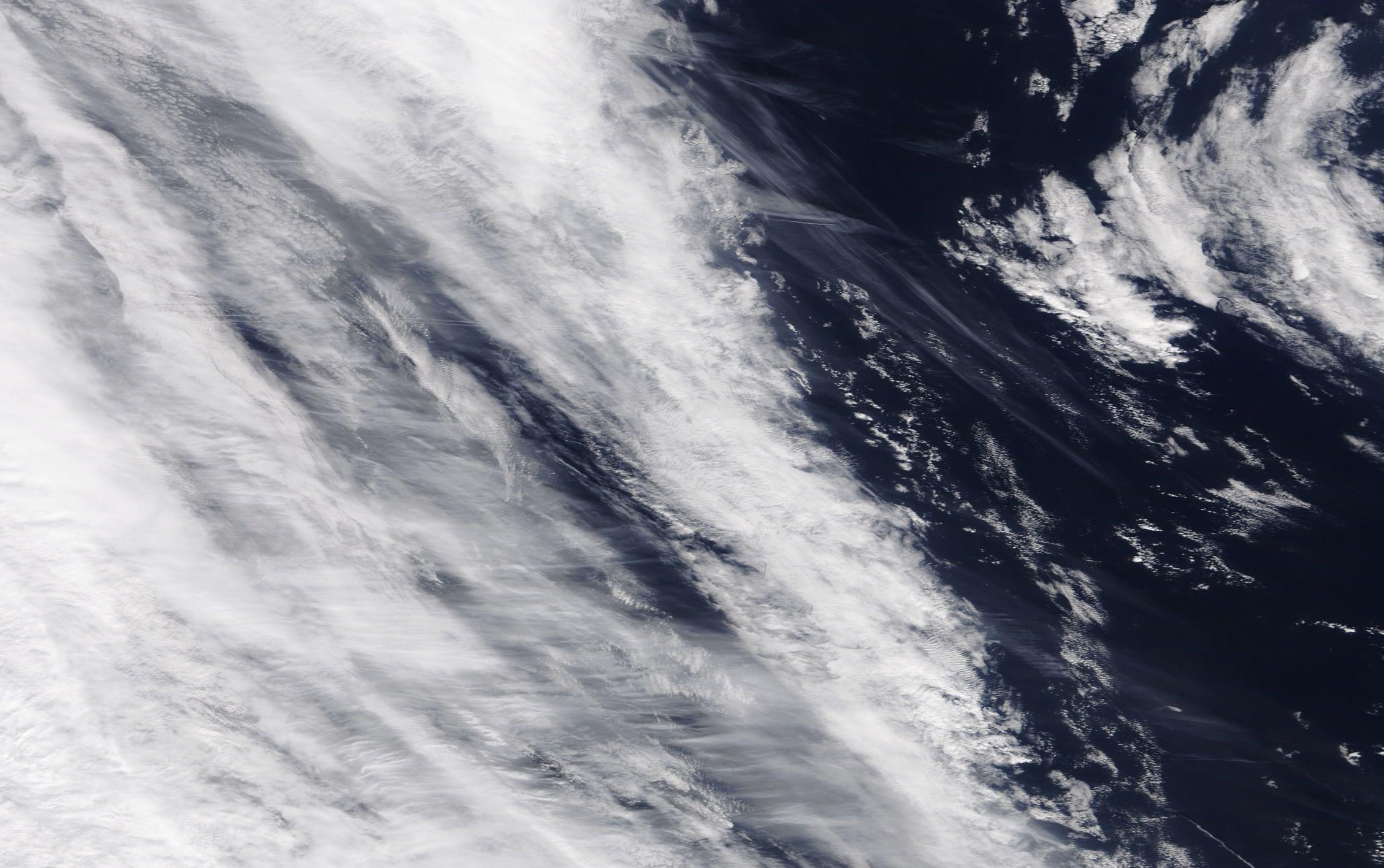 chemtrails and geoengineering ... north Atlantic 6 April 2019 https://go.nasa.gov/2UzkzI6