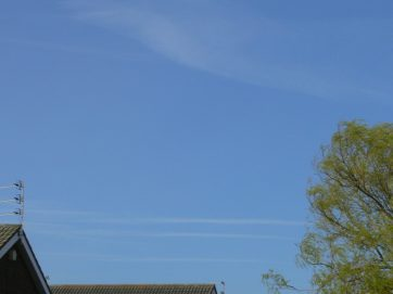 uk chemtrail geoengineering 1st April 2019 10:35 BST a lot of chemtrail this morning. Afternoon totally overcast.