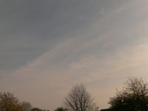 chemtrail geoengineering NE UK Thursday 18th April 2019