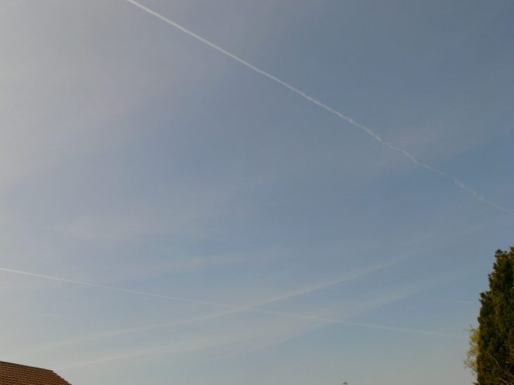 chemtrail geoengineering NE England Saturday 20th April 2019