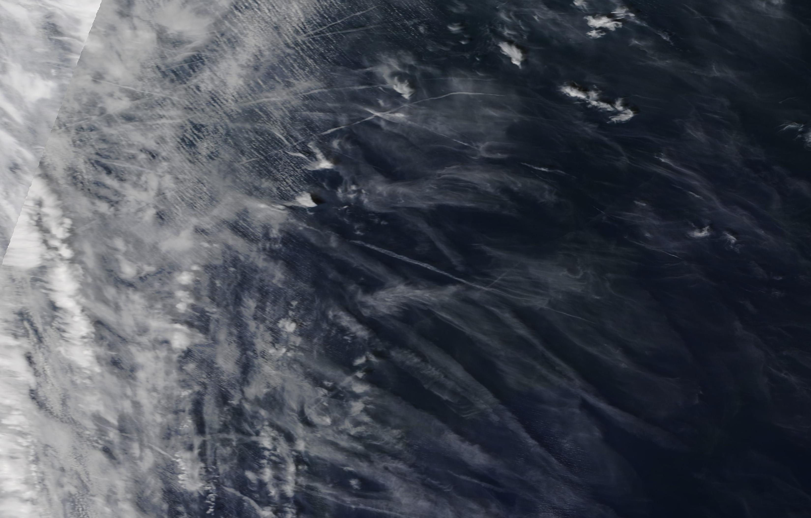 a closer look chemtrails mid Atlantic ie west of Spain and Portugal 12 May 2019 ... https://go.nasa.gov/2E5FCsh