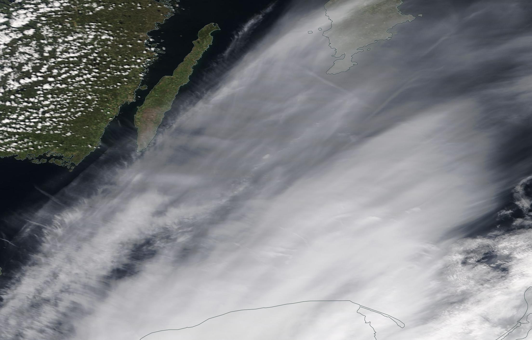 Baltic Sea, Oland, Gdansk chemtrails geoengineering Sunday 12 May 2019 ... https://go.nasa.gov/2E4JQ37
