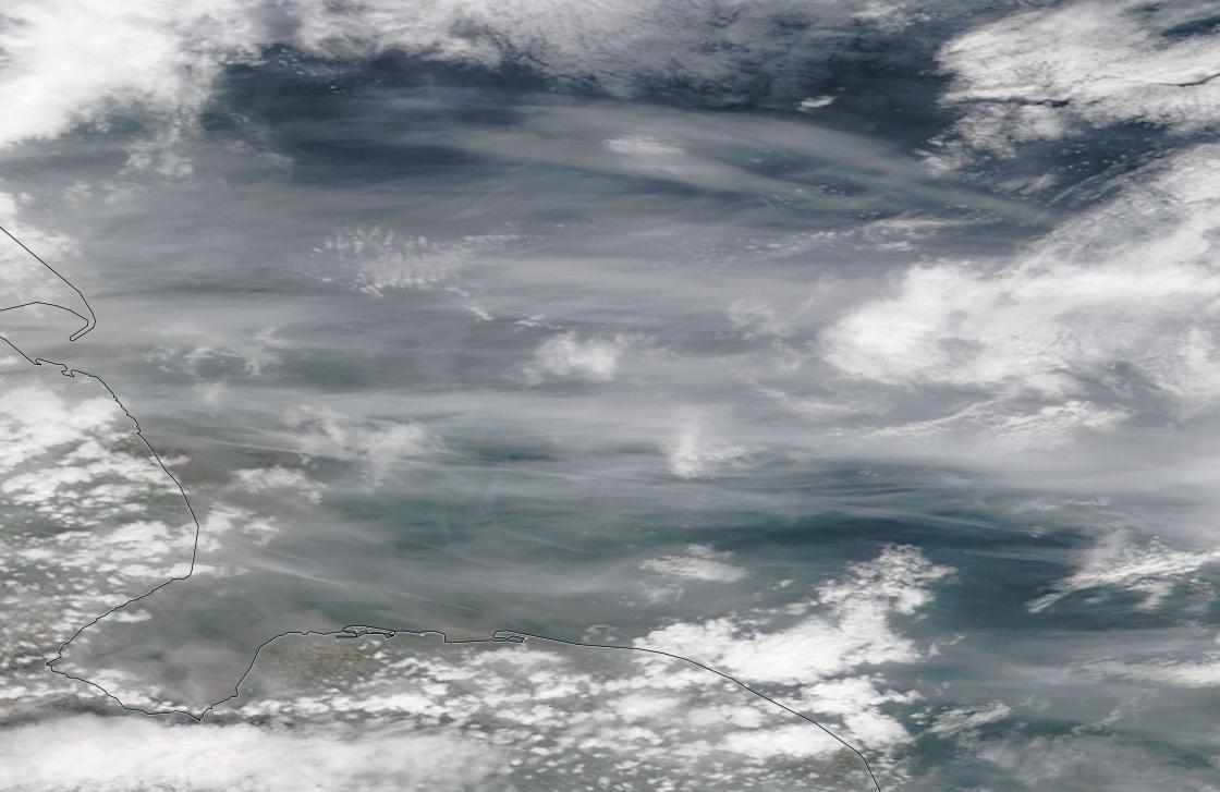 chemtrail geoengineering across England ie Norfolk Humber Wash 7 May 2019 ... https://go.nasa.gov/2JkcNM6