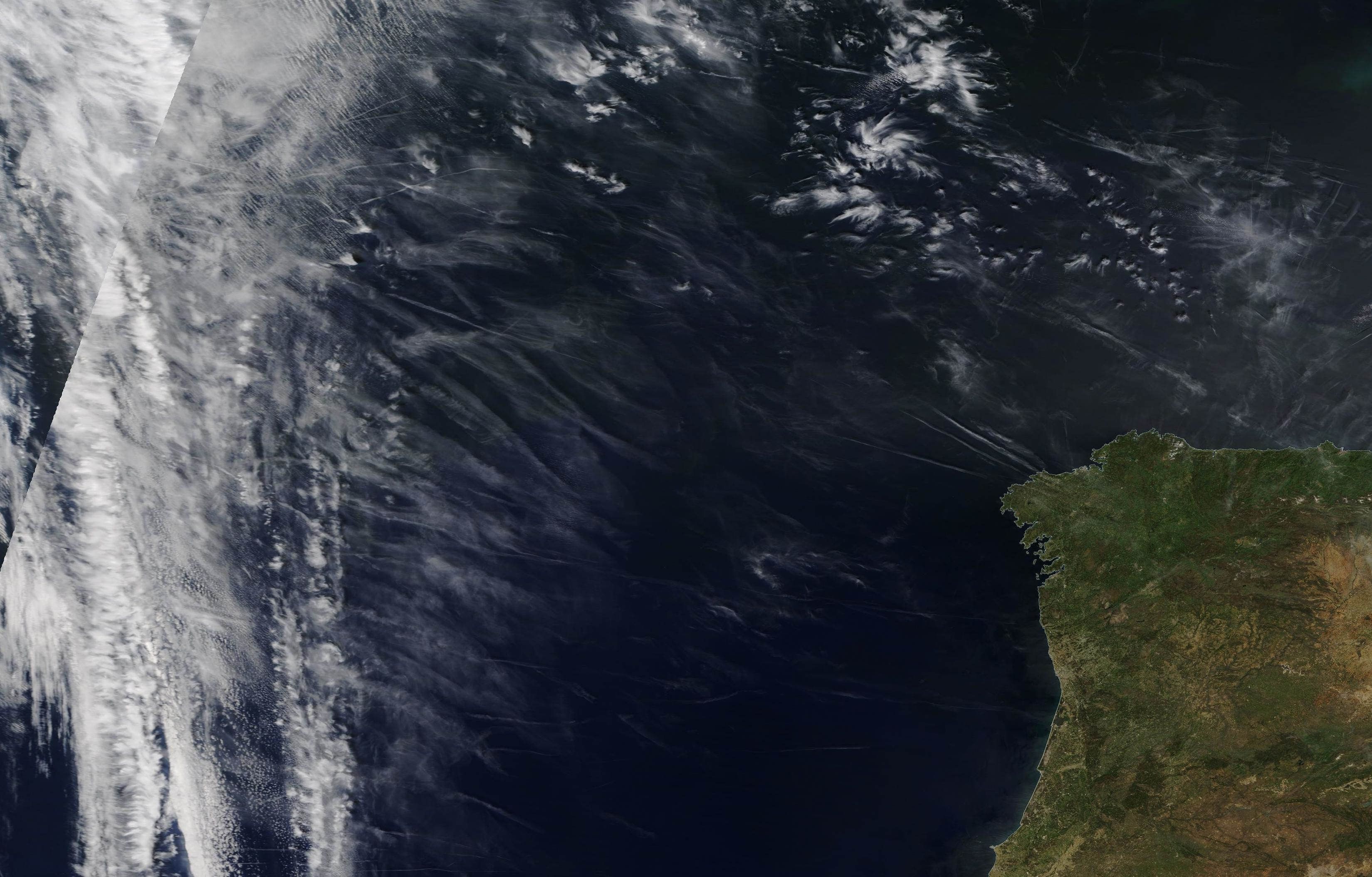 chemtrail geoengineering shipping area Trafalgar, Atlantic west of Spain and Portugal Sunday 12 May 2019 ...https://go.nasa.gov/2E75p39