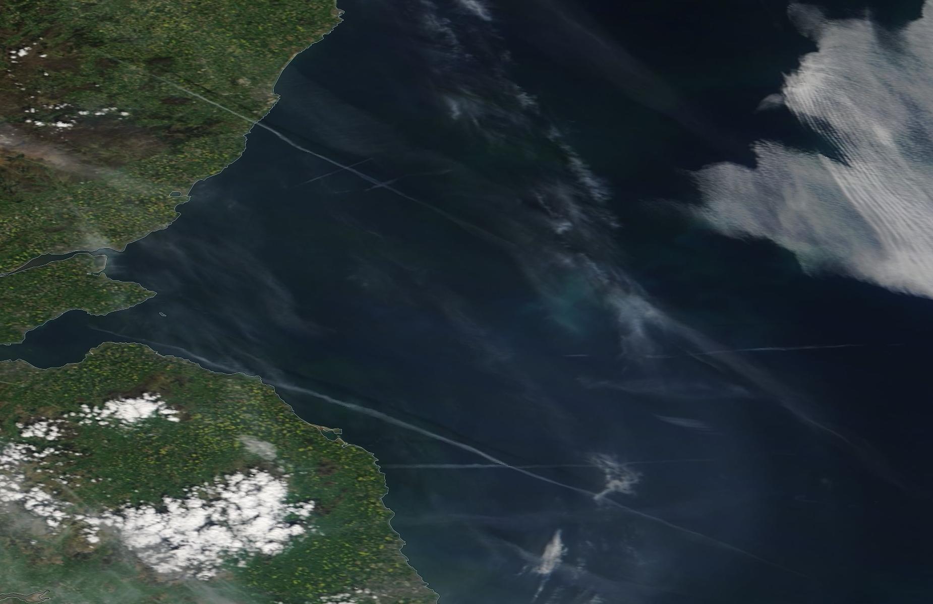 north east England, Fife chemtrail geoengineering May 15 2019 ...https://go.nasa.gov/2JIXbBT