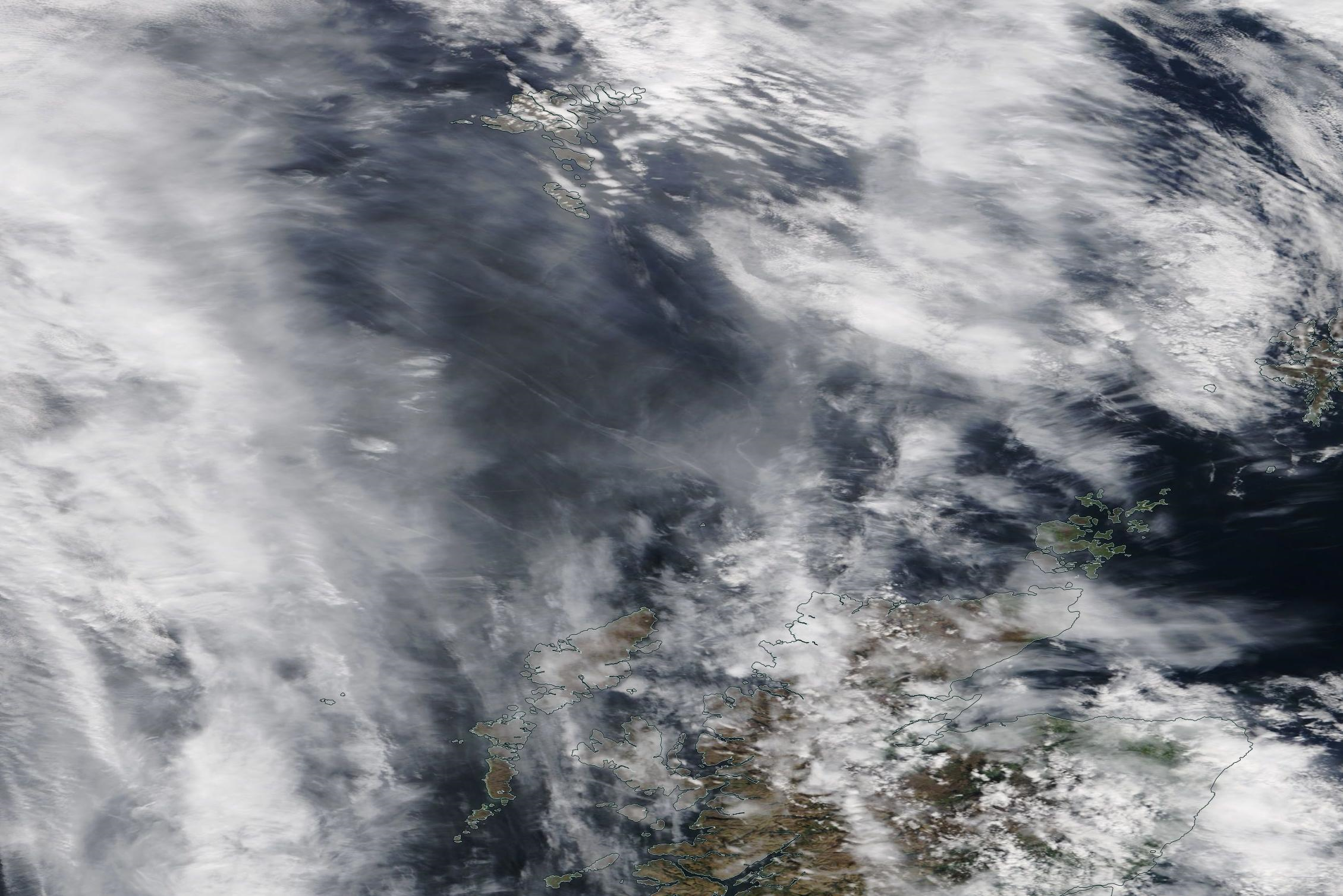 northern Scotland, Faroes, Outer Hebrides chemtrail geoengineering May 13 2019 ... https://go.nasa.gov/2E52ckI