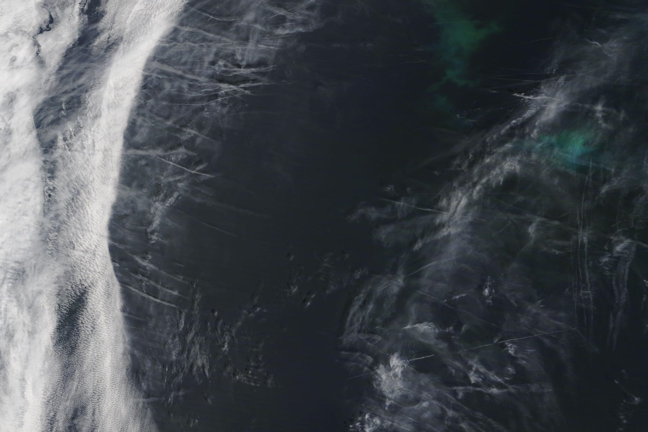 chemtrail geoengineering Shannon, Finisterre, Sole, May 13 2019 ...https://go.nasa.gov/2E5LPoa