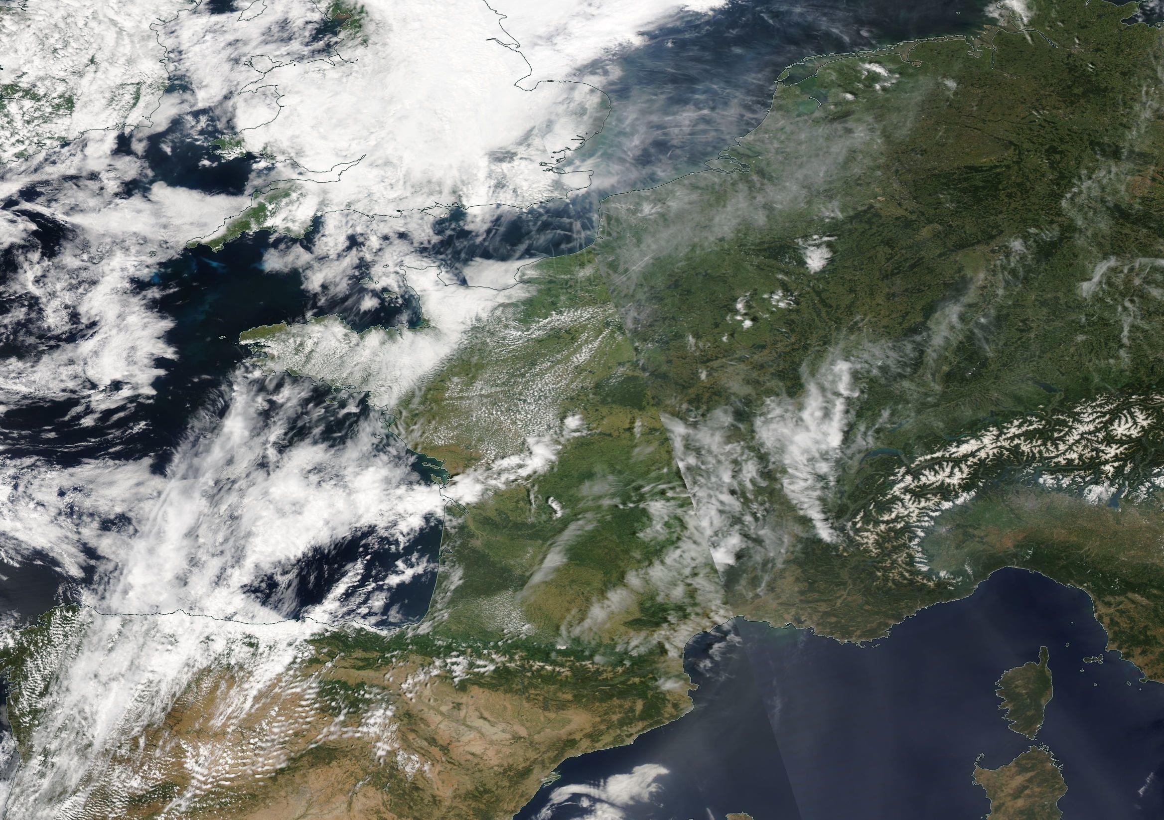 Western Europe Tuesday 25th June 2019 https://go.nasa.gov/2X2XScl