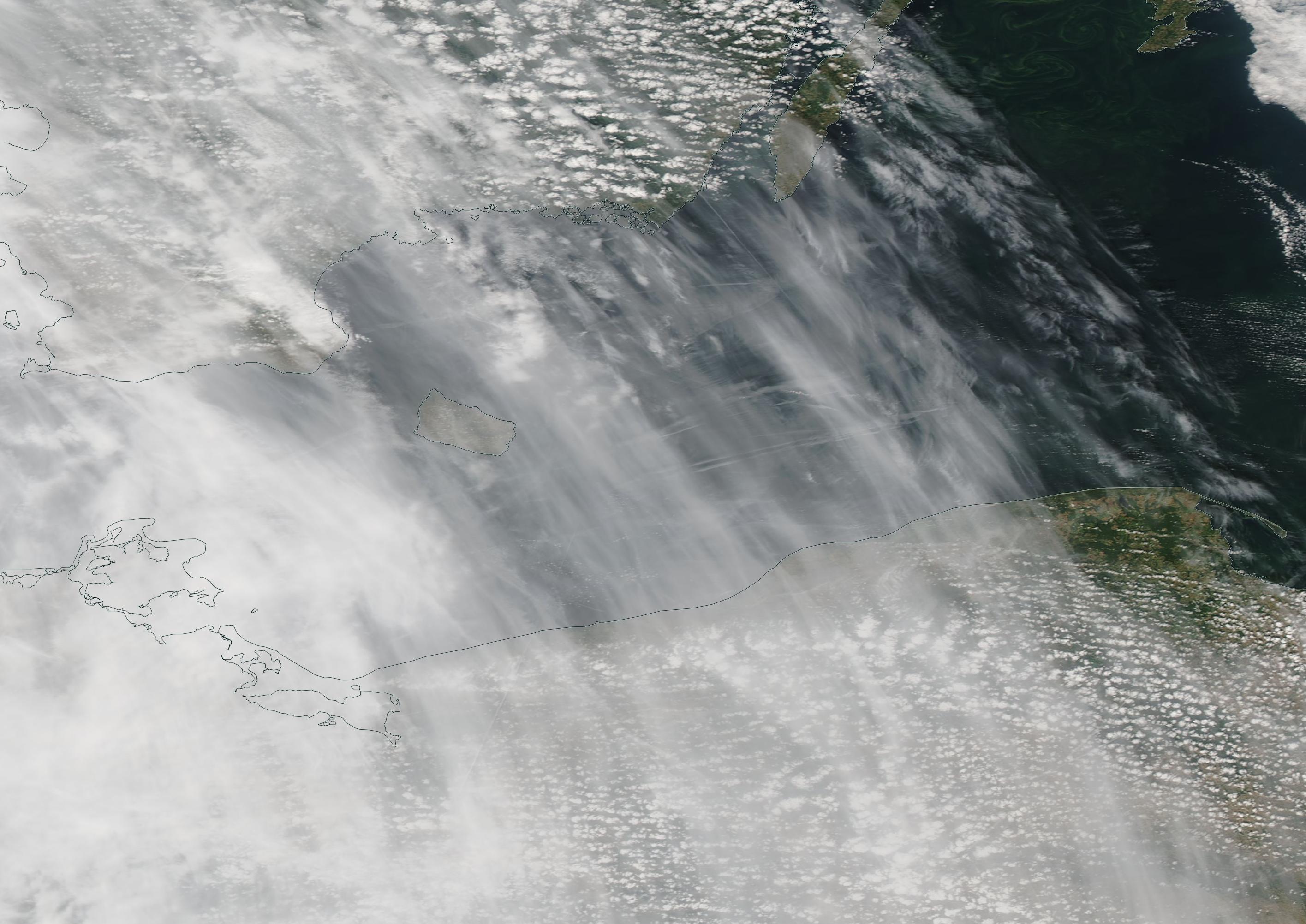 chemtrails Poland, Malmo, Stavanger, Gothenburg, Baltic Sea, Bornholm, Oland chemtrail geoengineering 22 july 2019 https://go.nasa.gov/2M8rxPq