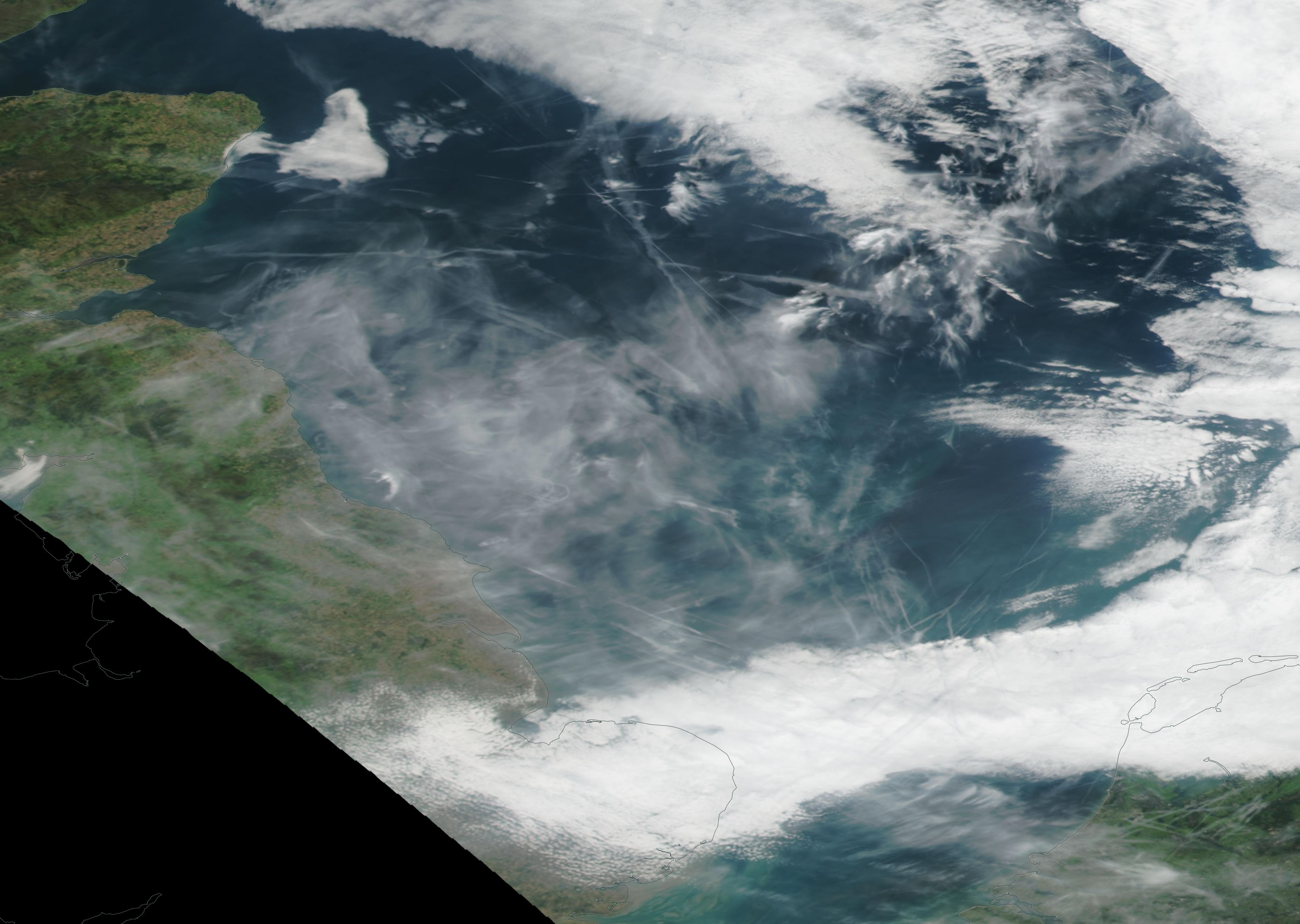 North Sea corrected reflectance  Fri 20th Sept 2019 (this is a simplified image of what i first found on the NASA website) https://go.nasa.gov/31GfX2T