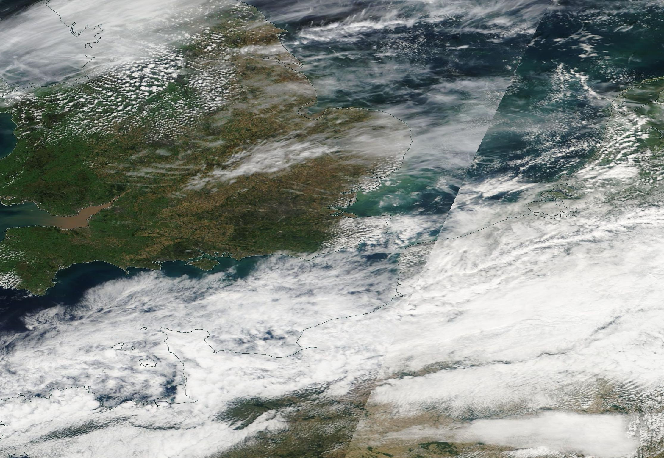 second version of southern England chemtrails published by NASA for 13th Sept 2019 ... https://go.nasa.gov/31ktrBi