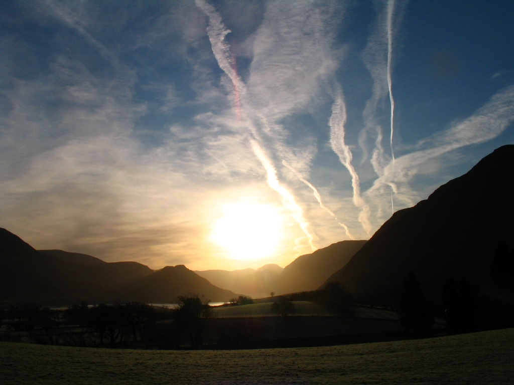 crummock water chemtrails Jan 2012