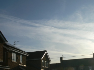 Chemtrail pictures UK September 2019