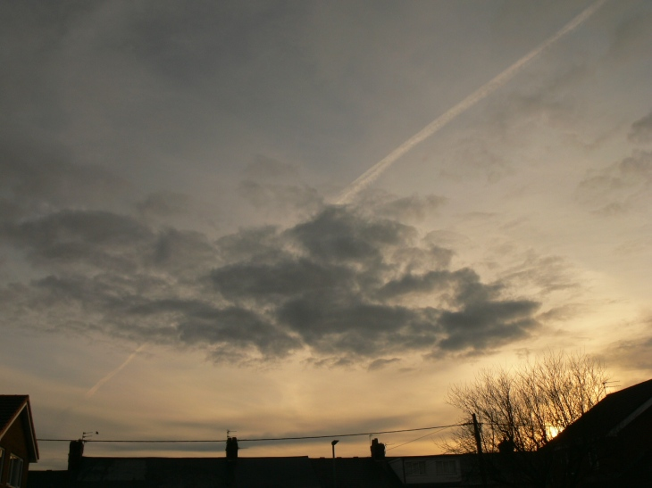 Chemtrails / geoengineering lines in the sky, 14 Feb 2020 NE England. These days often 'less obvious' a little patient observation is needed.