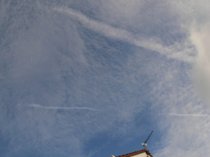 Chemtrails / geoengineering lines in the sky, 17 Feb 2020 NE England. These days often 'less obvious' a little patient observation is needed.